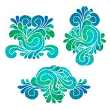 Set of decorative elements Royalty Free Stock Photo