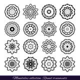 Set of decorative ethnic mandalas. Outline isolates ornament. Vector design with islam, indian, arabic motifs. Royalty Free Stock Image