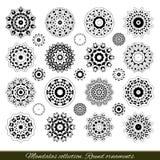 Set of decorative ethnic mandalas. Outline isolates ornament. Vector design with islam, indian, arabic motifs. Stock Photos