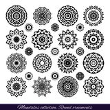 Set of decorative ethnic mandalas. Outline isolates ornament. Vector design with islam, indian, arabic motifs. Royalty Free Stock Images