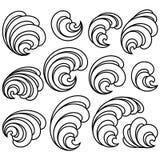 Set of Decorative Floral Curls stock illustration