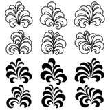 Set of Decorative Floral Curls royalty free illustration