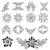 Set of decorative floral elements. Stock Images