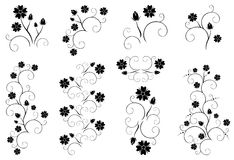 Set of decorative floral elements - eps Royalty Free Stock Photos
