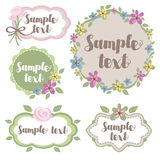 Set of decorative floral frames Stock Photo