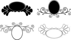 Set decorative Floral frames. Vector illustration Royalty Free Stock Photo