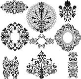 Set of decorative floral patterns Stock Images
