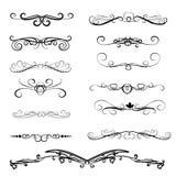 Set of decorative florish dividers, borders. Set of decorative florish dividers, borders royalty free illustration