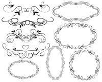 Set of decorative flourish dividers, borders, frames. Set of decorative florish dividers, borders, frames royalty free illustration