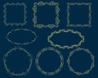 Set of decorative florish frames. Set of decorative florish frames stock illustration