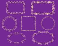 Set of decorative florish frames. Set of decorative florish frames royalty free illustration