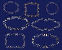 Set of decorative florish frames. stock illustration