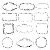 Set of decorative frames. Set of decorative florish frames stock illustration