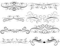 Set of decorative flourish dividers, borders. Set of decorative florish dividers, borders royalty free illustration