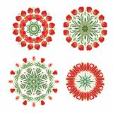 Set of decorative flourish rosettes Royalty Free Stock Images