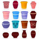 Set of decorative flower pots Royalty Free Stock Image