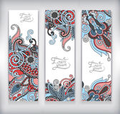 Set of decorative flower template banner, card, Stock Photography