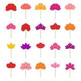 Set of decorative flowers,  illustration Royalty Free Stock Image
