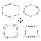Set of decorative frame calligraphic Stock Photos