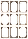 Set of decorative frame in vintage style stock illustration