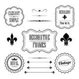 Set of decorative frames, borders and dividers - vintage retro style Stock Photo