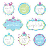 Set of decorative frames Royalty Free Stock Photography