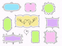 A set of decorative frames. A set of decorative colored frames stock illustration