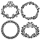 Set of Decorative Frames. Ideal for stencil. Vintage style. Ornate tracery of swirls and leaves isolated on white background Royalty Free Stock Photo