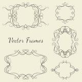 Set of decorative frames. Set of decorative ornate vector frames, design elevents Royalty Free Stock Photo