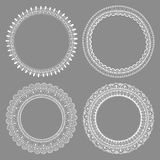 Set of decorative frames with space for text, hand-drawn design Royalty Free Stock Photos