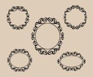 Set decorative frames .Vintage vector.Vector illustration. Black royalty free illustration
