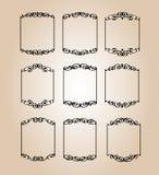 Set decorative frames .Vintage vector.Vector illustration. Black stock illustration