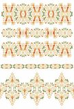 Set of  decorative geometric ribbon patterns Royalty Free Stock Image