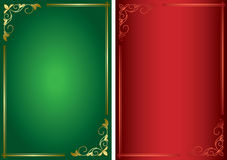 Set - decorative green and red frames - eps Stock Photography