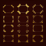 Set of decorative hand drawn frame Royalty Free Stock Photography