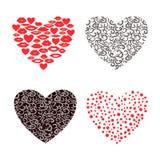 Set of decorative hearts. Royalty Free Stock Photos