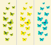 Set of decorative illustration butterflies Stock Photography