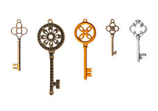 Set of decorative keys Royalty Free Stock Images