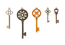 Set of decorative keys Stock Photography