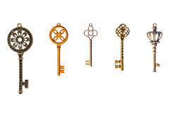 Set of decorative keys Royalty Free Stock Photography