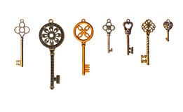 Set of decorative keys Royalty Free Stock Photos