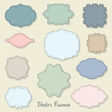 Set of decorative labels. Set of cute decorative vector labels Royalty Free Stock Images