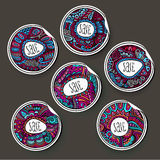 Set of decorative labels and stickers Royalty Free Stock Image