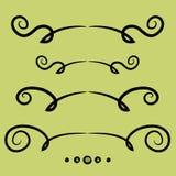 Set of decorative lines Stock Photos