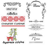 Set of decorative logo for restaurant. Stock Photography