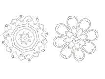 Set of decorative mandala. Vector illustration. royalty free illustration