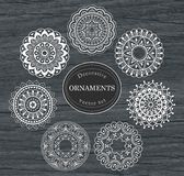 Set of decorative ornaments. Set of abstract, decorative ornaments. Vector illustration royalty free illustration