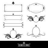 Set of decorative ornate frames and borders Royalty Free Stock Image