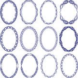 Oval border. Set of decorative oval borders Royalty Free Stock Photography
