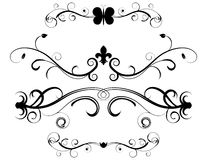 Set of Decorative Page Dividers Stock Image